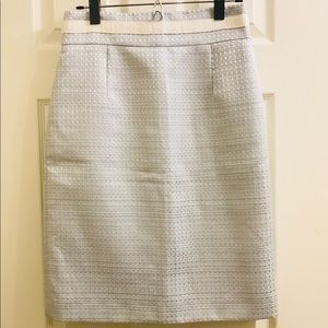 Alex Marie Silver & Pale Blue Pencil Skirt EUC